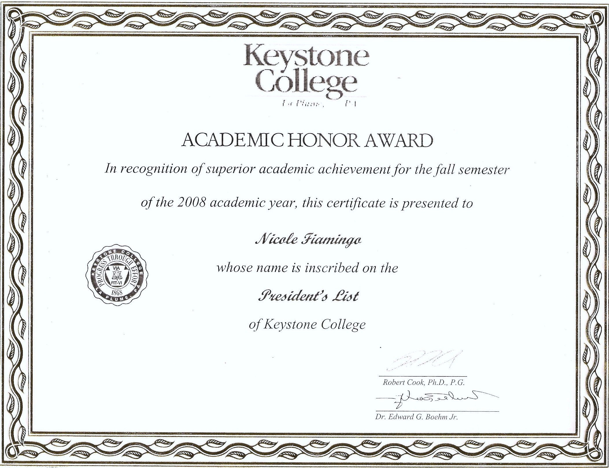 Academic Certificate Templates Free